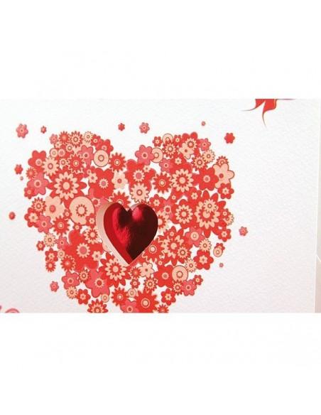 Invitación boda corazón