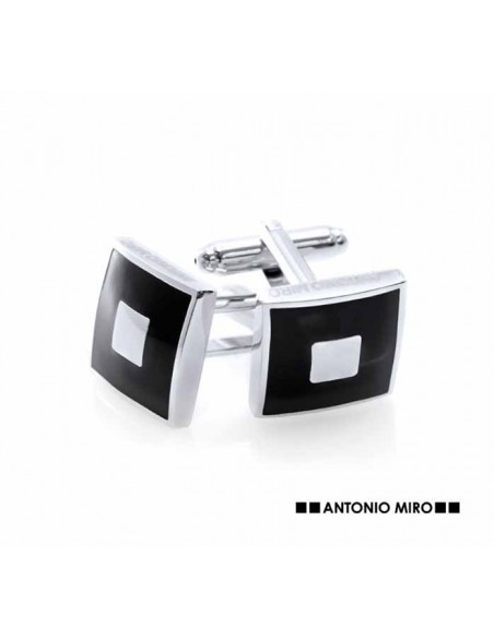 Gemelos plateados y en negro de Antonio Miro