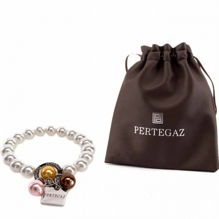 Pulsera de perlas en bolsa regalo de Pertegaz