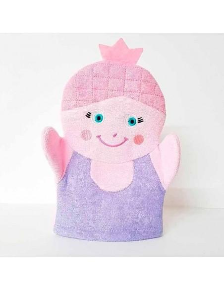 Esponja manopla para el baño diseño princesa