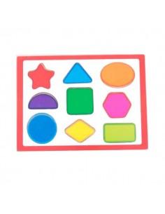 Puzzle infantil piezas geométricas en madera