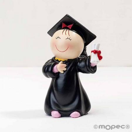 Figura chica graduación, para pastel