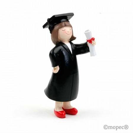 Figura niña para pastel de graduación