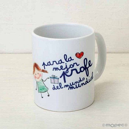 Taza o mug para regalar a la mejor profe
