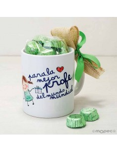 Taza o mug para regalar a la mejor profe con bombones
