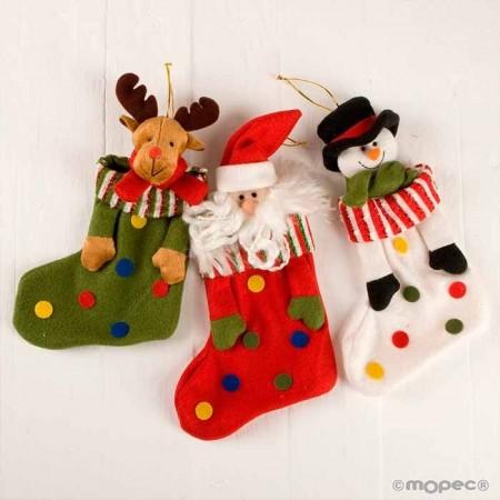 Calcetines topos con motivos navideños