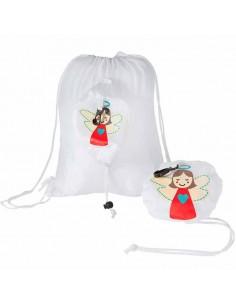 Mochila infantil de cuerdas con dibujo de angel