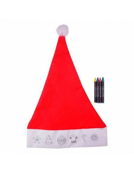 Gorro rojo de Papá Noel para colorear