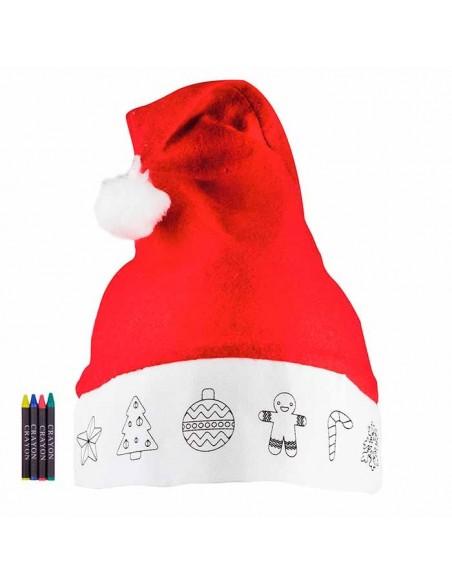 Gorro de Santa Claus para colorear