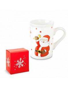 Mug o taza navidad Papá Noel con caja.