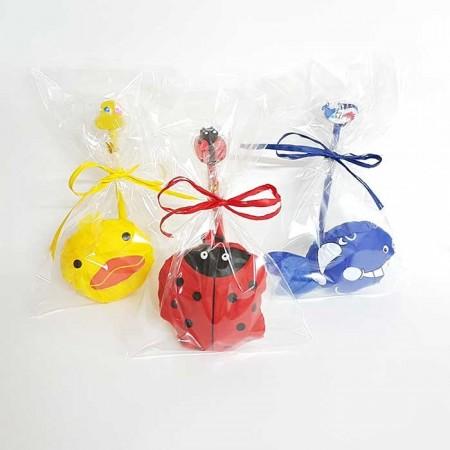 Set para eventos mochila plegable animales con lápiz con goma a juego