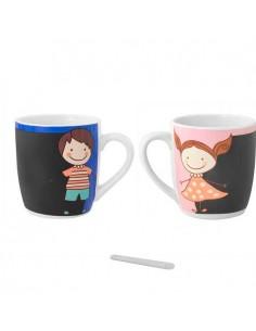 Mug o taza en cerámica pizarra niño o niña