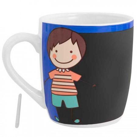 Mug o taza en cerámica pizarra niño