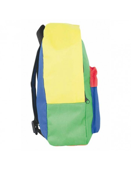 Mochila infantil multicolor lateral