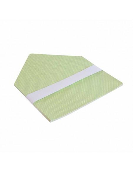 Forro interior sobres verde lunares blancos, para invitaciones de boda