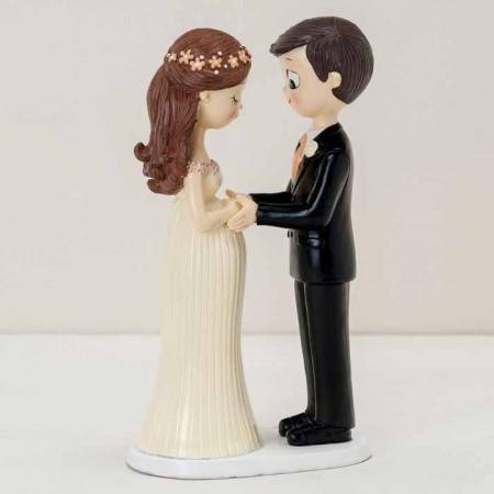 Figura para pastel novios Pop&Fun novia embarazada, 21cm