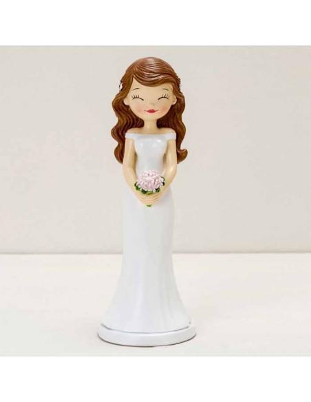 Figura para pastel novia Pop&Fun ojitos cerrados, altura 21cm.