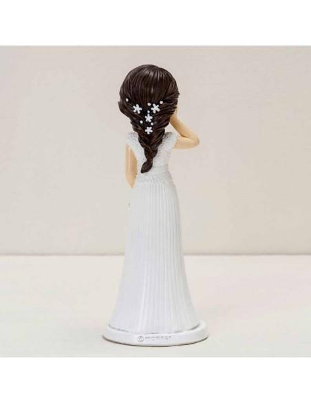 Vista posterior de la figura pastel novia Pop&Fun, mano en la mejilla