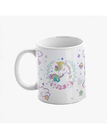 Reverso de la taza unicornio sin personalizar