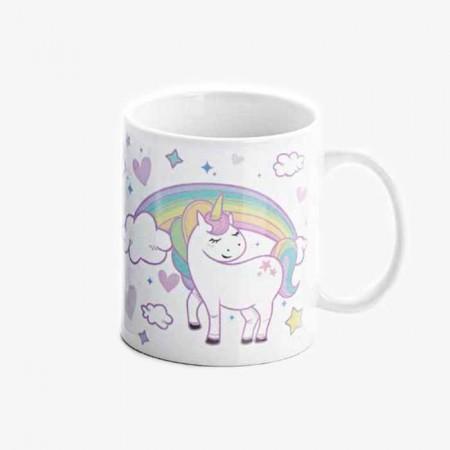 Taza desayuno Unicornio personalizable