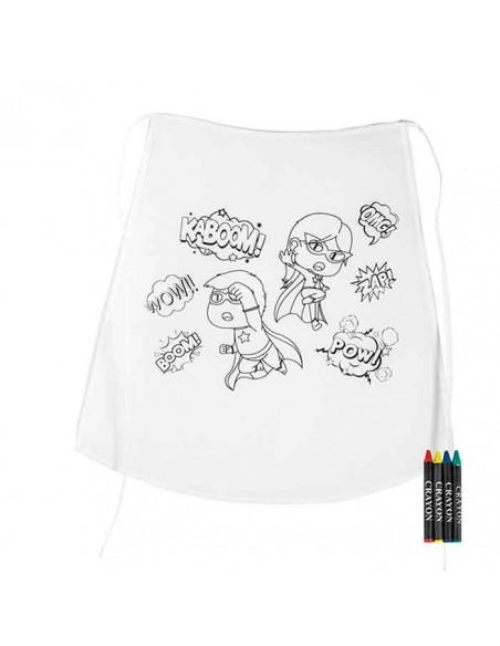 Capa infantil de superhéroe para pintar, incluye 4 ceras de colores
