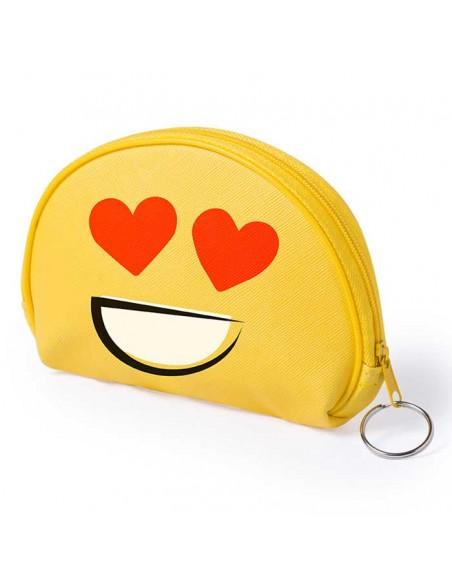 Monedero emoji ojos corazones