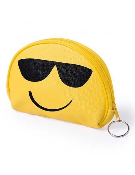 Monedero emoji con gafas de sol