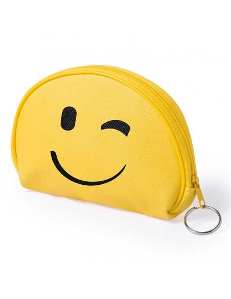 Divertido monedero emoji guiño