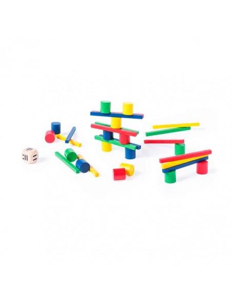 Juego de habilidad con 33 piezas de madera