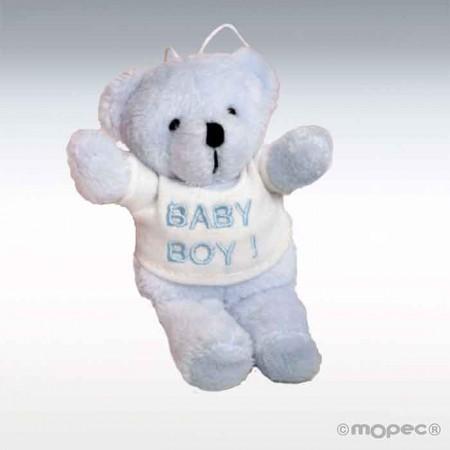 Osito azul amoroso con camiseta baby boy