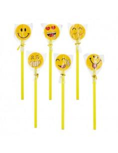 Lapices con goma smile caritas sonrientes