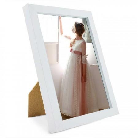 Marco de fotos en madera blanco para comuniones