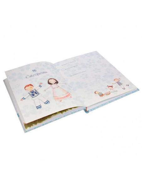 Detalle del interior del libro de firmas para comunión