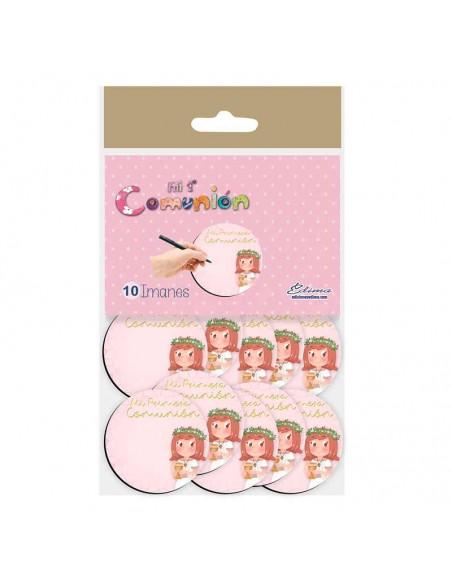 Pack 10 imanes para Comunión niña con Cáliz pequeño