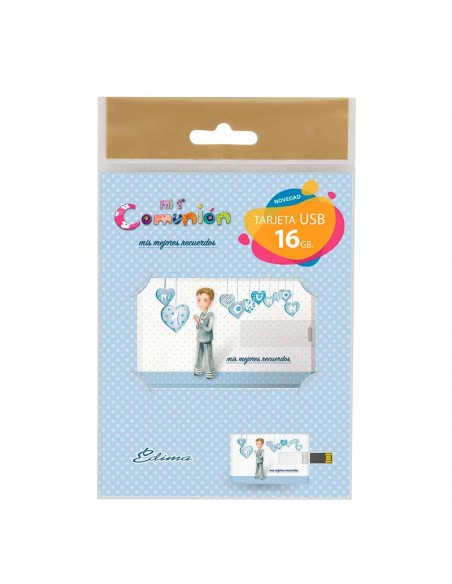 Presentación de la tarjeta USB, niño marinero