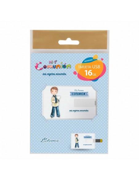 Presentación para la tarjeta USB, niño marinero con cáliz.