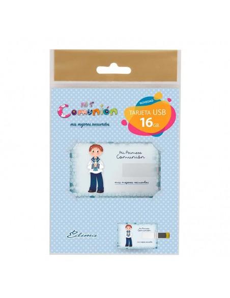 Presentación de la tarjeta USB, niño marinero con vela