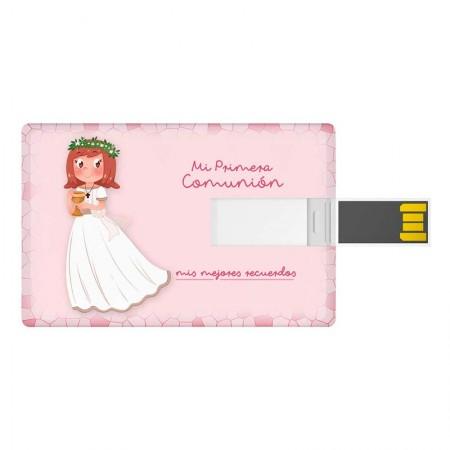 Tarjeta USB, 16 GB, niña con sonrosada con Cáliz