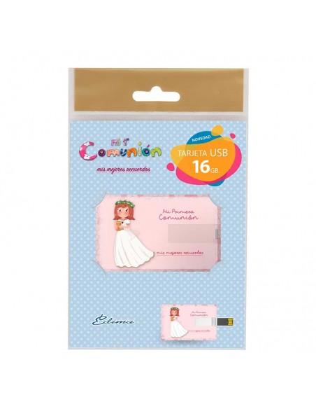 Presentación de la tarjeta USB, niña con cáliz pequeño.