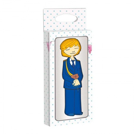 Memoria USB, 4 GB, con forma niño en traje azul marino