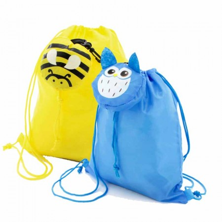 Mochila para niños con forma de búho o abeja