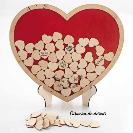Corazón para los deseos, con 70 pequeños corazones
