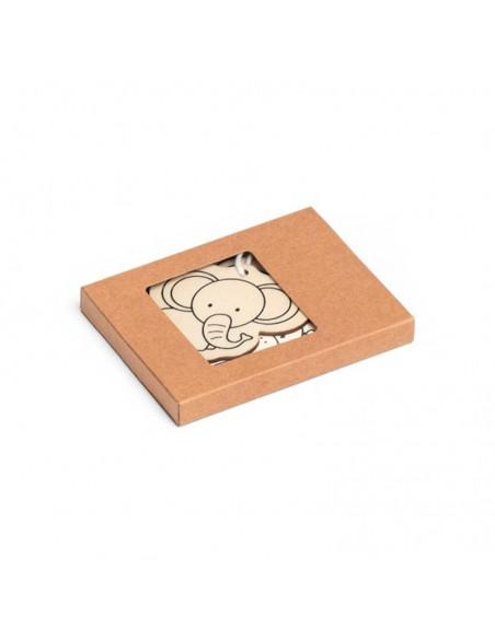 Caja de cartón con 3 figuras de animales para pintar
