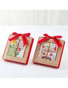 4 napolitanas puzle, motivos navideños
