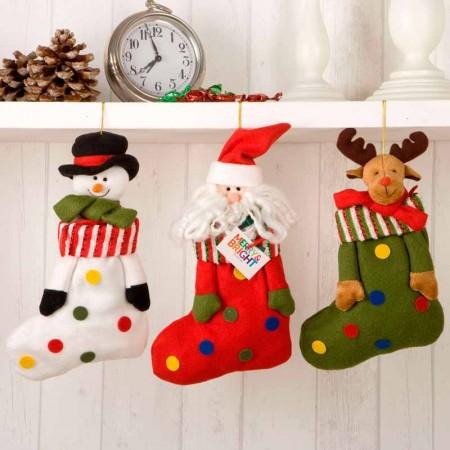 Calcetines navidad para colgar, de decoración