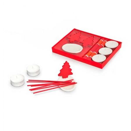 Set de esencia, 3 velas e incienso, para navidad