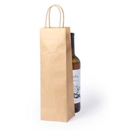 Bolsa lisa de papel para la presentación de una botella de vino