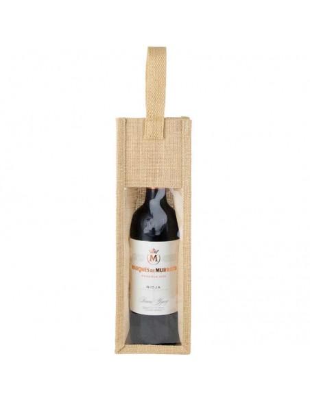 Bolsa en yute para botella de vino