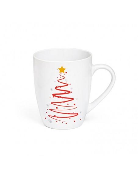 Taza de cerámica decorada con un Árbol de Navidad