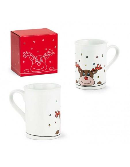 Taza mug decorada con un Reno, un regalo para navidad.